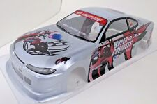 Nissan Silvia Pre-Painted Body 1/10th Scale Silver HPI Traxxas Kyohso Tamiya