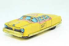 Blechspielzeug tin toy penny toy Taxi yellow cab schön lithographiert, Friktion