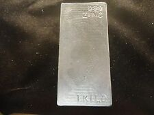 Zinc Bar -Ingot 1 Kilo-Hand Poured 99.9% Pure-hand Stamped-Cast- Made In Usa