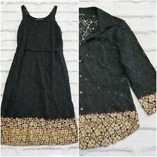 Final Price: Velvet Graham & Spencer Black Dip Dye Lace Dress & Shirt Sz S £450