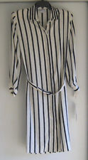 Vintage  Mountain Home Chicago Button Front Blue and White Dress Size 16