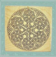 Large Celtic Knot Snowflake Rubber Stamp Winter Christmas Very Detailed #100