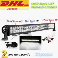 "34"" Barre à LED 180W Rampe Flood Sopt phare de travail SUV Offroad 12V 24V 300W"