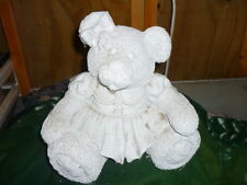 Ready to Paint Ceramic Patchwork Pal Girl Bear Bank