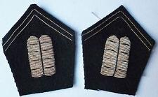 Rares Pattes de Col AUMONIER ISRAELITE 1945/1950 Uniforme France brodé original