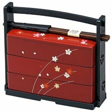 NEW HAKOYA Lunch Box Japanese Traditional Bento Red Cherry blossom Made in Japan