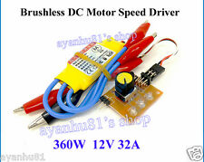 High Power 12V DC 360W 30A 3-phase Brushless Motor PWM Control Speed Controller