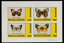 GB Locals - Bernera (1126) 1981 BUTTERFLIES imperf sheetlet unmounted mint