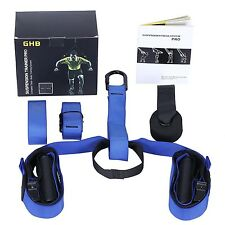 Suspension Fitness Straps Trainer System for Home Gym Workout Training Blue TRX