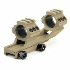 """1"""" INCH (DARK EARTH) Tactical  Dual Ring Cantilever Scope Mount Picatinny PEPR"""