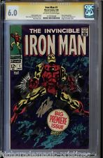 IRON MAN # 1 CGC 6.0 SS STAN LEE SIGNED IN GOLD CGC #1279195008