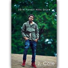New J Cole 2014 Forest Hills Drive Custom Silk Poster Wall Decor 24x36 Inch