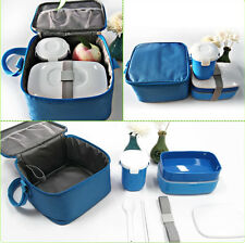 Japanese Bento Lunch Box Set with Water Soup Mug Insulated Lunch Shoulder Bag