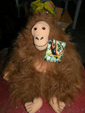 Plush Orangutan by Fiesta MINT with Tags 13 inches tall 1997