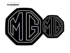 MG ZR MK2 Badge Inserts Front Grill Rear Boot Badges 59mm/95mm Silver/Black