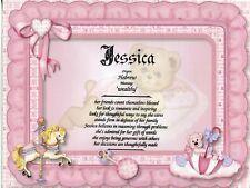 """""""Baby Girl"""" Name Meaning Print Personalized (Gift for Birth, Shower, Baptism)"""