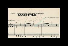 THE ULTIMATE ☆ JOHN WILLIAMS AUTOGRAPH ☆ SIGNED 4/15/1978 STAR WARS MAIN TITLE!