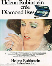 PUBLICITE ADVERTISING 055  1973   HELENA RUBINSTEIN  maquillage DIAMOND EYES
