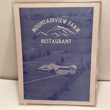 Historic Mountainview Farm Restaurant Friendsville Tennessee Menu, Closed In 80s
