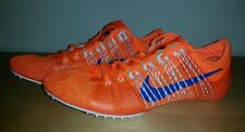 New Nike Zoom Victory 2 Track and field Spikes Men's size US 5 Orange Blue