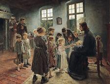 Lasset die Kinderlein zu mir kommen Fritz von Uhde Beten Sankt Beten B A3 01958