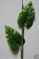 Künstliche Blätter Deko Blätter Grün Floristik Basteln Stiel Anthurium  N143