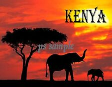 Africa - KENYA - Travel Souvenir Fridge Magnet