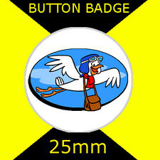 DASTARDLY AND MUTTLEY IN THEIR FLYING MACHINES - STOP THE PIGEON - BUTTON BADGE