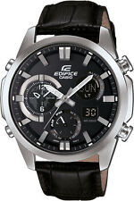 Casio Edifice ERA500L-1A Analog Digital with Black Leather Band Watch
