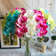 Artificial Butterfly Orchid Silk Flowers Bouquet Phalaenopsis Wedding Home Decor
