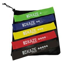 KAZE SPORTS Ankle Resistance Exercise Loop Bands, Set of 5