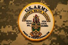 Military Patch US Army Sergeants Major Academy Color Perfect Condition Sew-on