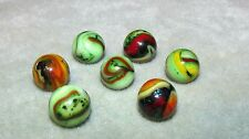 """M2711  7 LOT  SAMMY'S  MOUNTAIN MARBLES CHRISTMAS 12-27-12   5/8"""" +/- NM/ MINT"""