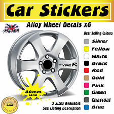 Honda Civic Type R Alloy Wheel Stickers Decals 50mm