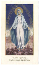 Antique Vintage French Holy Prayer Card Immaculate Conception Virgin Mary