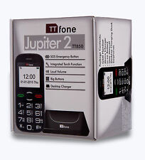 TTfone Jupiter 2 tt850 Negro Vodafone Big Bundle payg pay as you go-Big Button