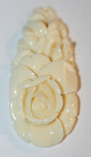 AAA Recons Ivory color Carved Drop Pendant 25x54mm  Big  Pendant Loose