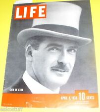 Life Magazine – 1938 Anthony Eden of Eton cover Great Old Ads Nice See!