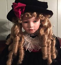 """KINGSTATE DOLLCRAFTER PRESTIGE COLLECTION """"MORGAN"""" 24"""" DOLL  22/3200 """"""""BEAUTIFUL"""