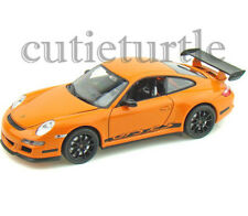 "4.5"" Welly Porsche 911 997 GT3 RS 1:32 Diecast Toy Car Orange With Black Wheels"