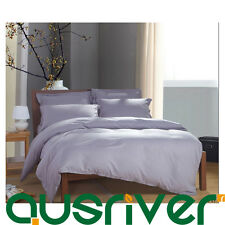 Premium Candy Solid Color Double Queen King Size Satin Bed Doona Quilt Cover Set