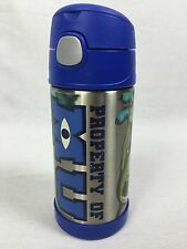 Monsters University Inc Mike & Sully Funtainer Thermos Bottle Straw Travel Mug