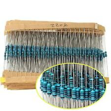 1500pcs 1/4W Metal Film Resistors Assorted kit 75 Values (1 ohm~ 10M ohm) 1%