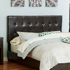 King Size Headboard Faux Leather Brown Bedroom Furniture Grid Stitching Detail