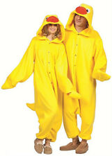 ADULT TUB TIME YELLOW DUCK DUCKY DONALD QUACK ANIMAL PAJAMAS COSTUME JUMPSUIT