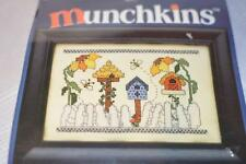 """Birdhouses w/Sunflowers"" MUNCHKINS COUNTED CROSS STITCH KIT #357"