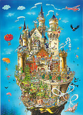 1000 Piece Comic Jigsaw Puzzle Neuschwanstein Castle - hard comedy style 05184
