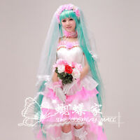 VOCALOID Hatsune Miku Cantarella Costume Cosplay Wedding Dress Customized