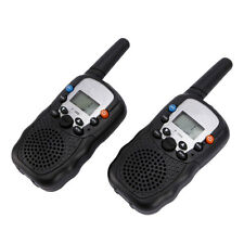Lot 2 Multi-Channels 2-Way Radios Walkie Talkie T-388 for Child Black