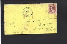 WOODBINE, IOWA COVER. Lemon colored. Sent to Kingsville, Ontario. Essex County.